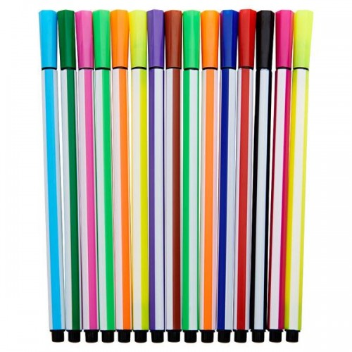 Woc Tub 12 Washable Felt Tip Markers - Duck 3 Asst