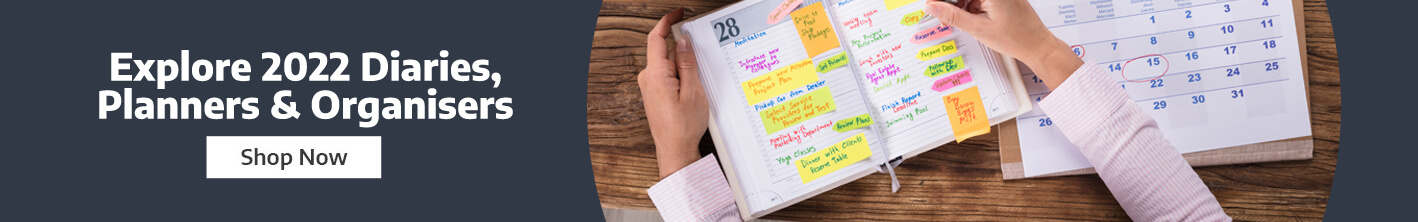 Explore the full range of Diaries, Planners and Organisers for 2022 from Ryman Business