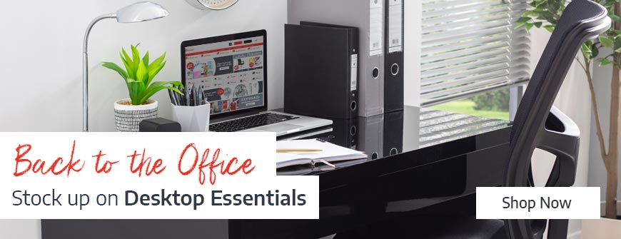 Update your Desk with Desktop Essentials from Ryman Business