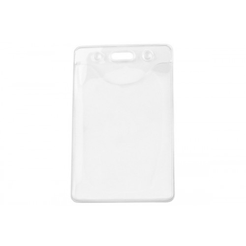 Eco Friendly DOP Free Recyclable Badge Holder - Vertical/Portrait View