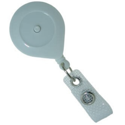 Smart Badge Reel  With Locking / Releasing Button - White