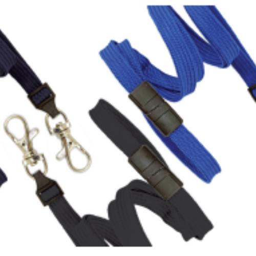 Royal Blue 10 mm Classic Flat Breakaway Lanyard with Trigger Snap Hook