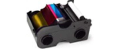 Fargo 45214 YMCKO Half-Panel Color Ribbon, 850 Prints