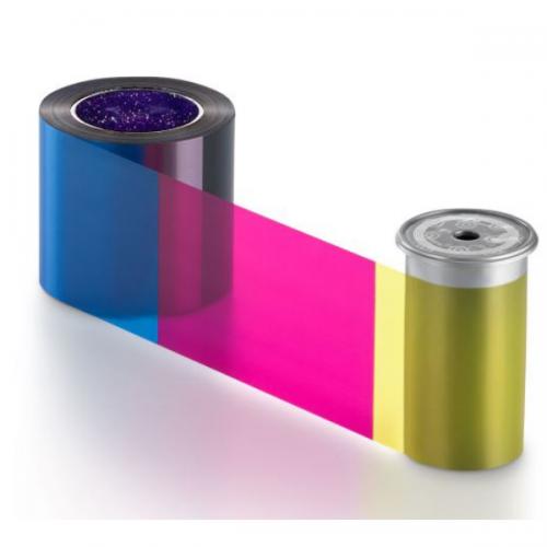 Entrust 525100-002 YMCKT Short-Panel Colour Ribbon (650 Prints)