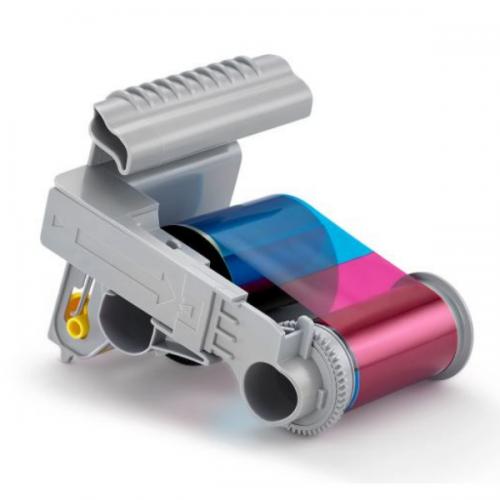 Entrust 525150-004 YMCKT Full Colour Ribbon Cassette (500 Prints)