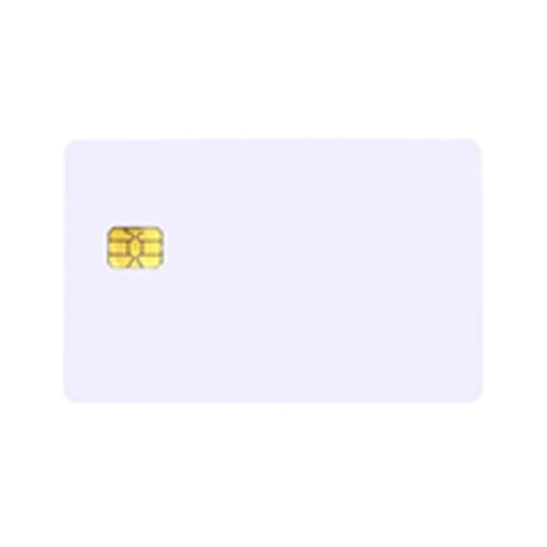 BLANK WHITE FM 5542 CONTACT CHIP CARDS (PACK OF 100)