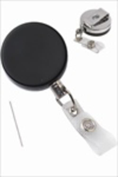 Heavy Duty Badge Reel With Steel Wire Cord, Reinforced Vinyl Strap