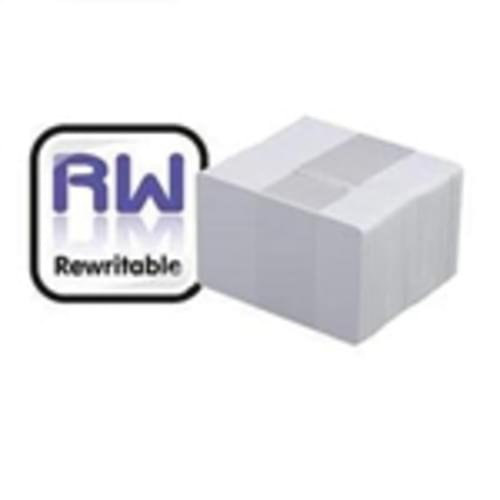 Rewritable Blank Visitor Plastic cards, Plain white and Magnetic Options