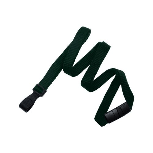 Forest Green 10mm Breakaway Bamboo Lanyard with wide No Twist Plastic Hook