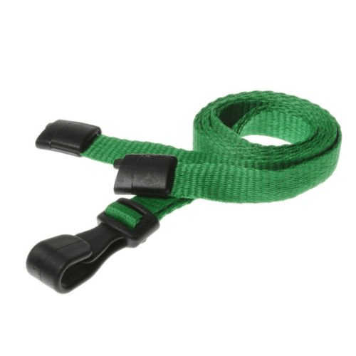 Light Green Lanyards with Breakaway and Plastic J Clip