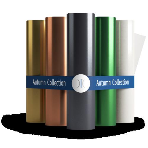 Sleeking Foils The Autumn Collection - Gold, Copper, Black, Green & Clear Spot Gloss 60 Metre Rolls 76mm Core