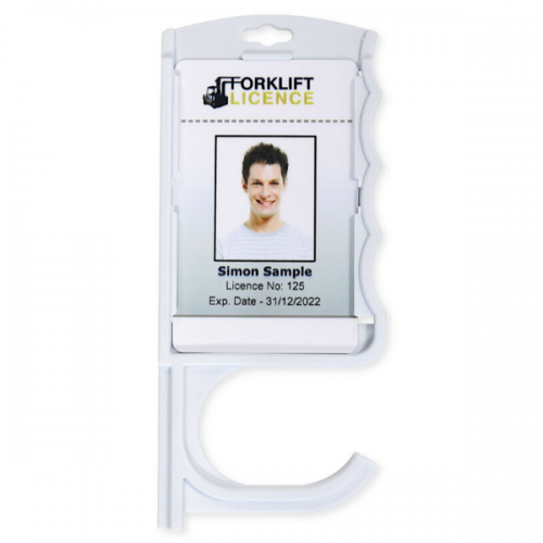 Anti-Microbial Badge Holder with Door Opener - Pack of 10
