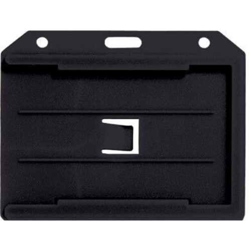 Two sided Multi-Card Holder - PVC - Black - Horizontal/Landscape View