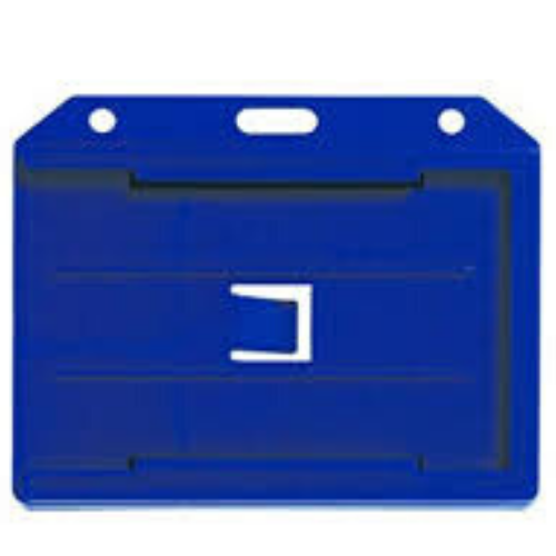 Two sided Multi-Card Holder - PVC - Blue - Horizontal/Landscape View