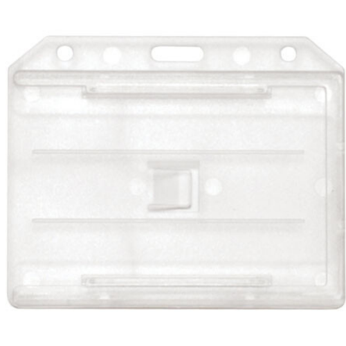 Two sided Multi-Card Holder - PVC - White - Horizontal/Landscape View