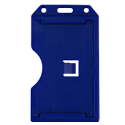 Two sided Multi-Card Holder - PVC - Blue - Vertical/Portrait View