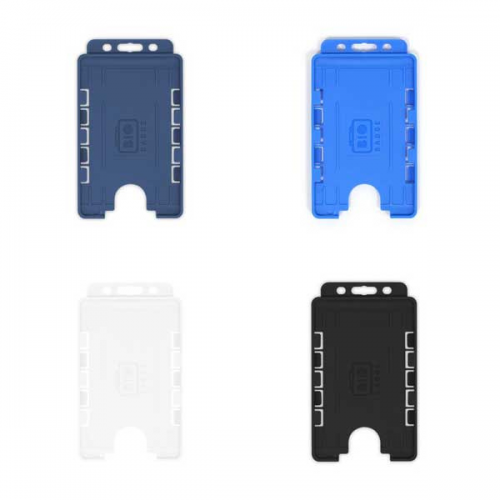 Dual-Sided BIOBADGE Open Faced ID Card Holders - Portrait (Pack of 100)