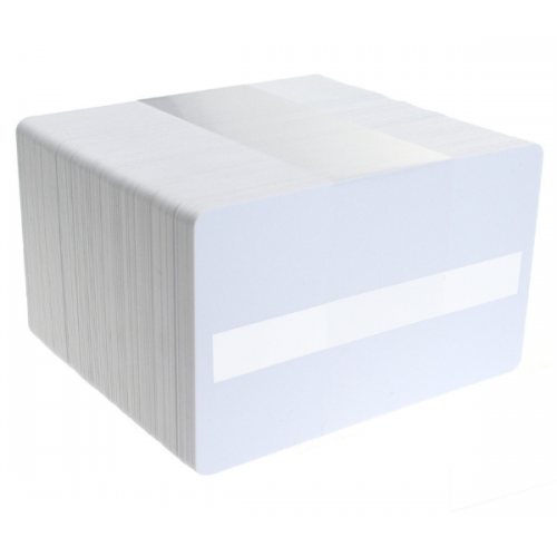 Blank White Plastic Cards with Signature Strip – Pack of 100