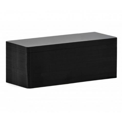Edikio  Price Tag Cards - PVC Blank Matt Black Long Cards - 20 Mil - 50x120mm