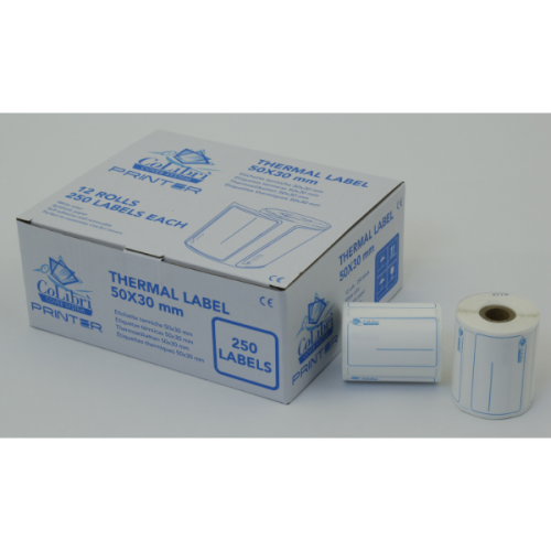 CoLibri Printer Labels 50 x 30mm - 250 Labels Per Roll