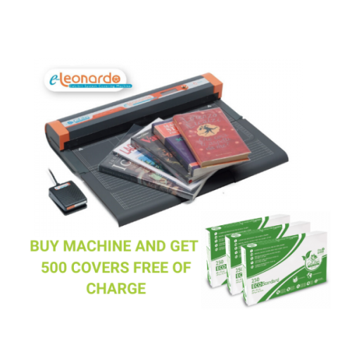 E-Leonardo Automatic Book Covering Machine from Colibri Plus 500 Covers -FREE OF CHARGE