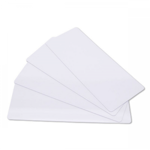 Edikio  Price Tag Cards - PVC Blank White Long Cards - 20 Mil - 50x120mm