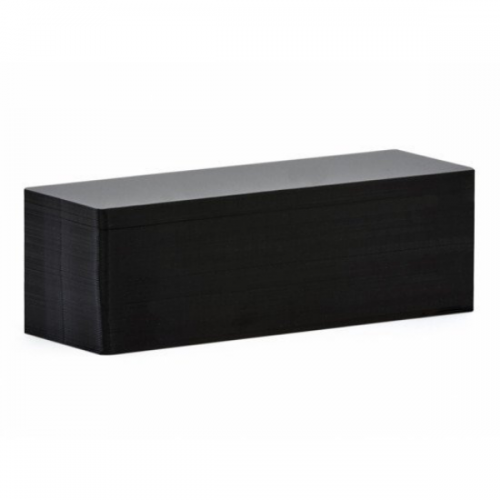 Edikio Price Tag Cards - PVC Blank Matt Black Long Cards - 20 Mil - 50x150mm