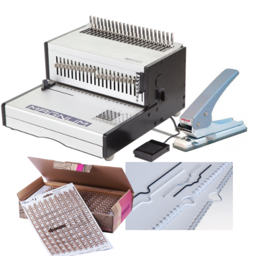 Electric Calendar Binding Machine Package with Supplies