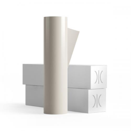 1370mm 65 Micron PVC Free White Gloss Vinyl 50 Metres