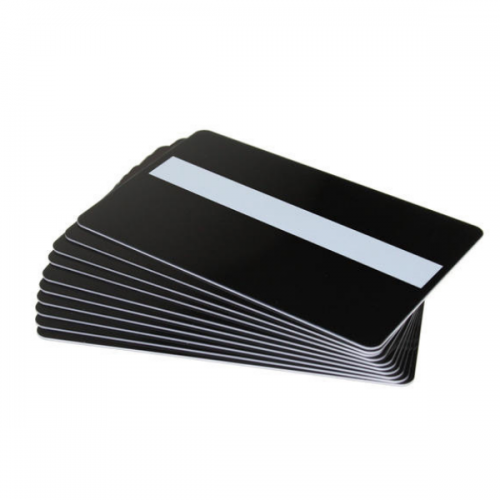 Black Gloss Premium Cards With Hi Co Mag & Sig Panel - Pack of 100