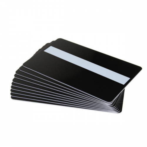 Black Matte Plastic Cards with Signature Strip (Pack of 100)