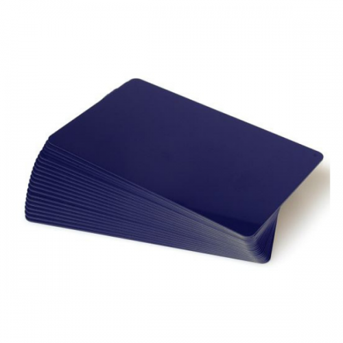 Dark Blue Plastic Cards - 760 Micron, Coloured Core (Pack of 100)