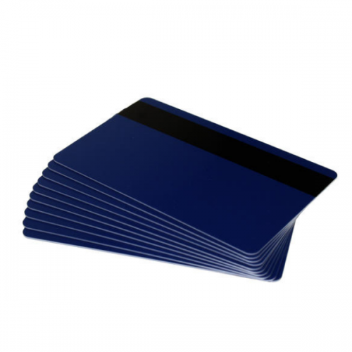 Dark Blue Plastic Cards With Hi-Co Magnetic Stripe (Pack of 100)
