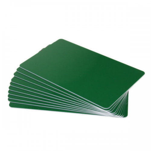 Forest Green Premium 760 Micron Cards, Coloured Core - Pack of 100