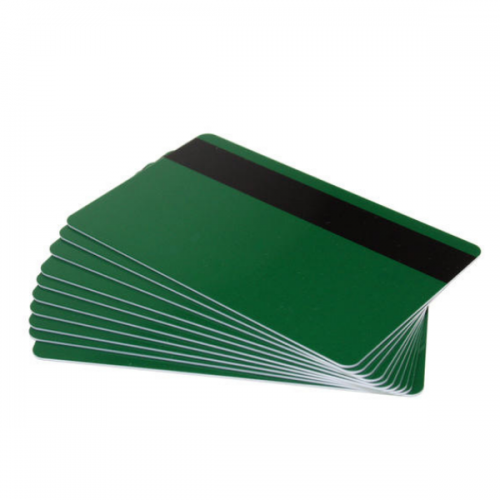 Forest Green Plastic Cards With Hi-Co Magnetic Stripe (Pack of 100)