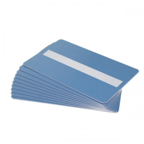 Light Blue Plastic Cards With Signature Strip (Pack of 100)