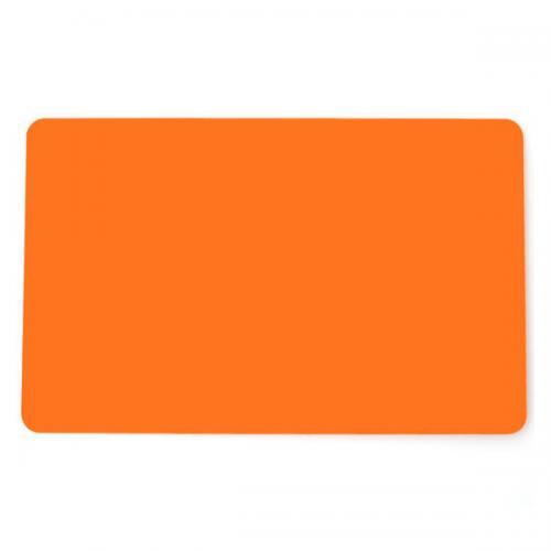 Orange Premium 760 Micron Cards, Coloured Core - Pack of 100