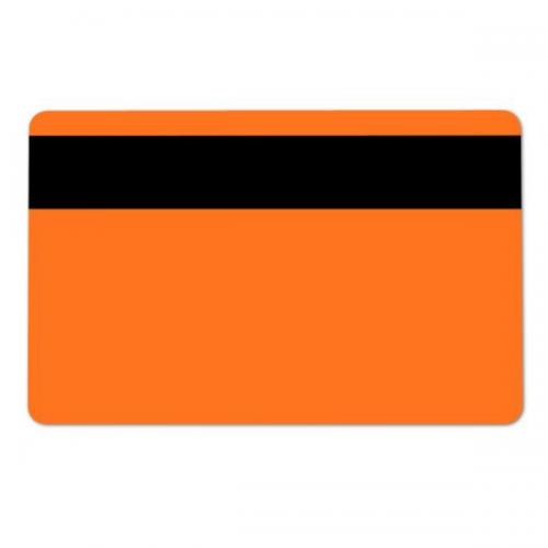 Orange 760 Micron Cards with 2750oe Hi-Co Mag Stripe, Coloured Core - Pack of 100