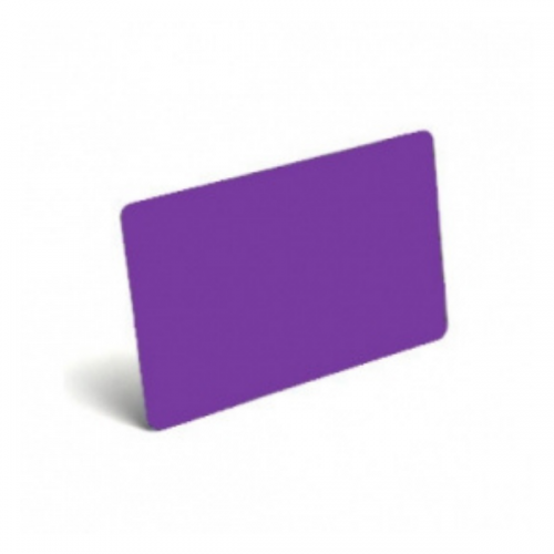 Purple Plastic Cards - 760 Micron, Coloured Core (Pack of 100)