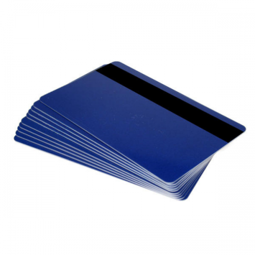 Royal Blue 760 Micron Cards with 2750oe Hi-Co Magnetic Stripe, Coloured Core - Pack of 100