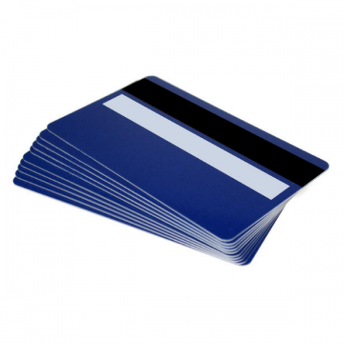 Royal Blue Plastic Cards With Magnetic Stripe & Signature Strip (Pack of 100)
