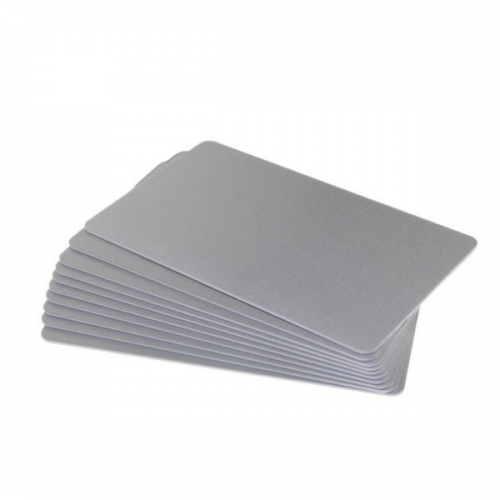 Silver Premium 760 Micron Cards, Coloured Core - Pack of 100
