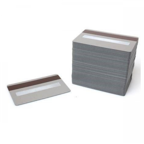 Silver 760 Micron Premium Cards with 2750oe Hi-Co Magnetic Stripe & Signature Panel, Coloured Core - Pack of 100