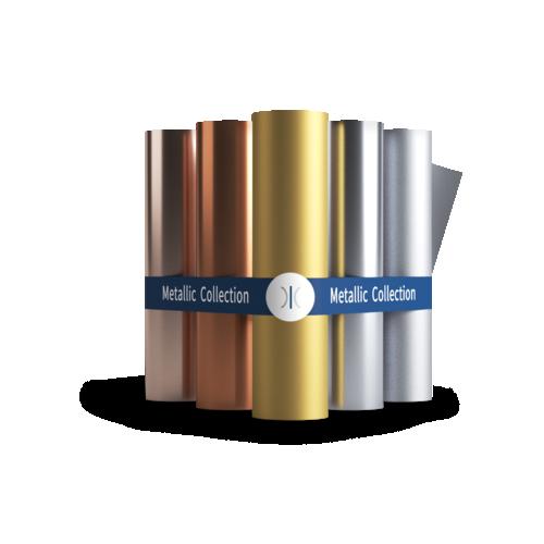 Sleeking Foils The Metallic Collection - Rose Gold, Silver, Copper, Matt Gold & Matt Silver 60 Metre Rolls 76mm Core