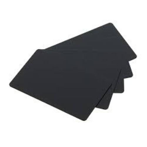 PVC Blank Matt Black Long Cards - 20 Mil - 50x120mm