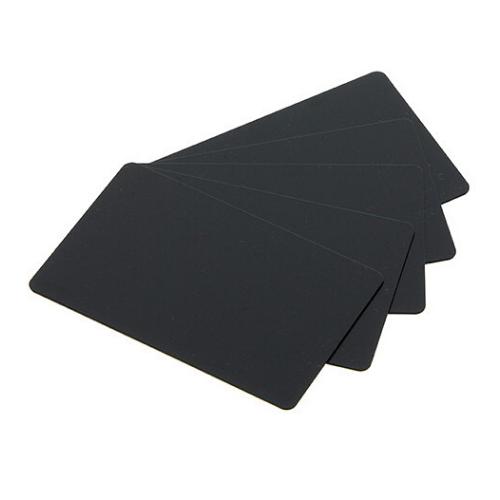 PVC Blank Matt Black Long Cards - 20 Mil - 50x150mm