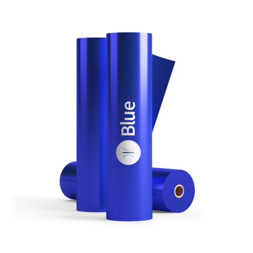 320mm Sleeking Foil Blue 25mm Core 100 Metres