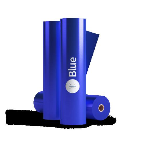 320mm Sleeking Foil Blue 76mm Core 300 Metres