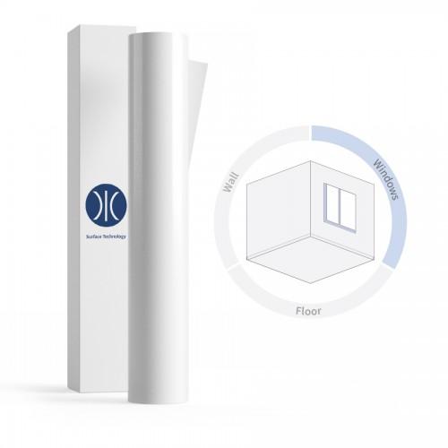 1370mm 150 Micron White Gloss Removable Window Graphic Monomeric PVC Film 50 Metres