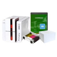 Evolis Primacy GO GREEN Duplex Card Printer Bundle with Printer, Colour Ribbon, 100  Bio Degradable Cards & Lanyards and Card Design Software